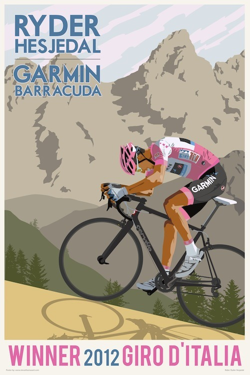 Ryder Hesjedal poster from Team Garmin-Barracuda