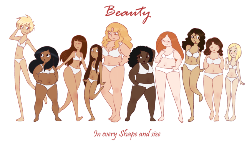 eschergirls:  soveryunofficial:  The many kinds of girl by ~vonnie-seiyuki-chan I believe I look like the second to last one, but with a brown version of the first one's hair.  I saw this on my feed and I think this is wonderful, and also very topical to this blog. :)  (I'm either the 4th from the left (our left), or the far right)
