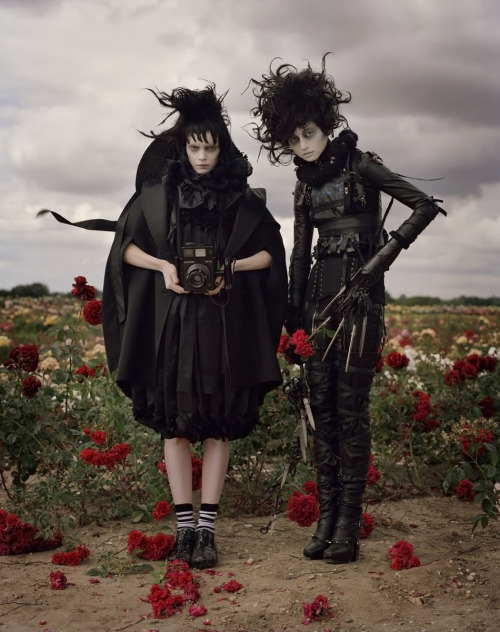 Sophie Srej and Evelina Mambetova by Tim Walker for Harper's Bazaar US October 2009.