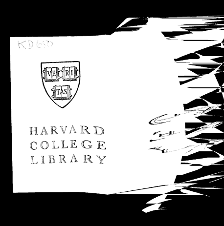 Distorted Harvard College Library bookplate. From the front matter of The Missing Pocket-Book: or, Tom Mason's Luck by Harry Castlemon (1895). Original from Harvard University. Digitized March 13, 2008.