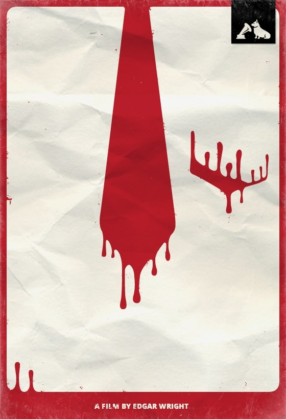 Shaun of the Dead - hmv Minimalist Film Poster To celebrate the Top 10 films - voted for by you - in the hmv Jubilee Poll, our friends at MMK Media have created these minimalist posters featuring iconic images from each movie. We'll be posting two a day, each day this week. Here's one celebrating the #9 film in our list, Shaun of The Dead.
