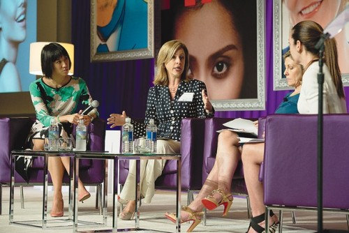 Beauty Panel Discusses Emerging  Demographics Three women representing three expanding key demographics for the beauty industry — the Baby-Xers, Latina women and the young digerati — shared their insights during a panel about the ever-evolving U.S. market. The roundtable discussion, led by Beauty Inc. editor Jenny B. Fine, included Lesley Jane Seymour, the editor in chief of More magazine; Graciela Eleta, senior vice president of Univision, and Eva Chen, the health and beauty director of Teen Vogue.  For more FOR FULL COVERAGE OF THE WWD BEAUTY SUMMIT From left: Eva Chen, Graciela Eleta and Lesley Jane Seymour. Photo By Stephen Leek