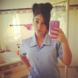 #school #year12 #hsc I did a #bow in my #hair cuz I was #bored :L #photooftheday #fringe (Taken with instagram)
