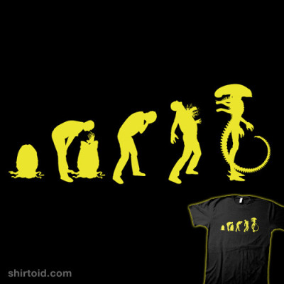 shirtoid:  Xenomorph Evolution by Sublevel Studios is $10 today only (6/1) at Shirt Punch