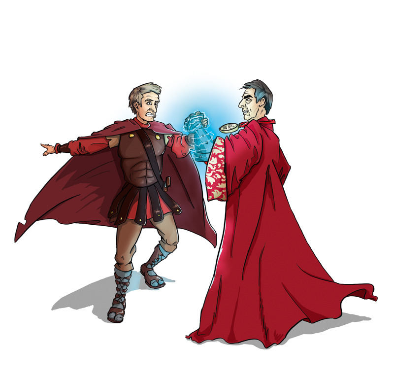 tinymaster:  Rassilon v Roman Rory Issue 23 sees Rassilon getting to grip with Rory. Romans are no match for Time Lords, especially when they have a glowing gauntlet. © Immediate Media Co. & BBC Worldwide