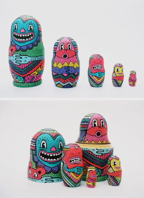 Russian Doll set i did a while ago. I've worked on a few more and commissions are welcome… Follow me on Twitter @HattieDoodles