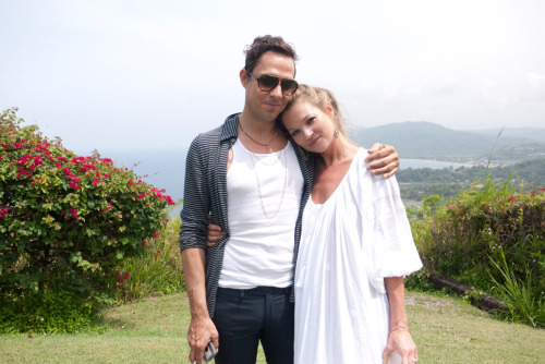 terrysdiary:  Kate and Jamie at Firefly in Jamaica.