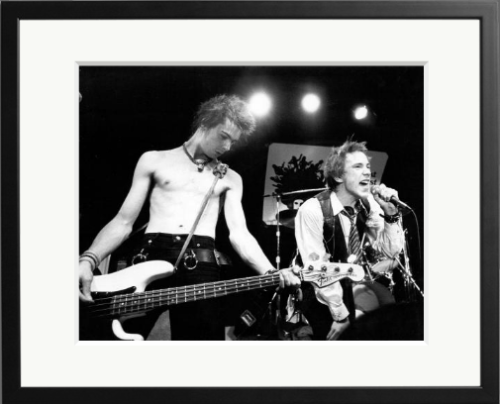 June's artist of the Month: Johnny Rotten and Sid Vicious of 'The Sex Pistols' perform their last concert in Winterland on January 14, 1978 in San Francisco, California. Happy Jubilee your Majesty…