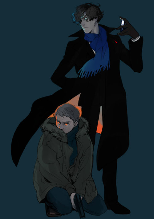 castiel-sherlock-watson:  Two ghosts by ~oirbmeamu