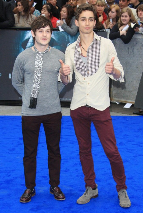 Iwan Rheon & Robert Sheehan at the Prometheus World Premiere in Leicester Square, 5/31/12