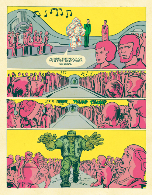 megatrip:  Final Frontier Page 27, Tom Scioli  These colors!