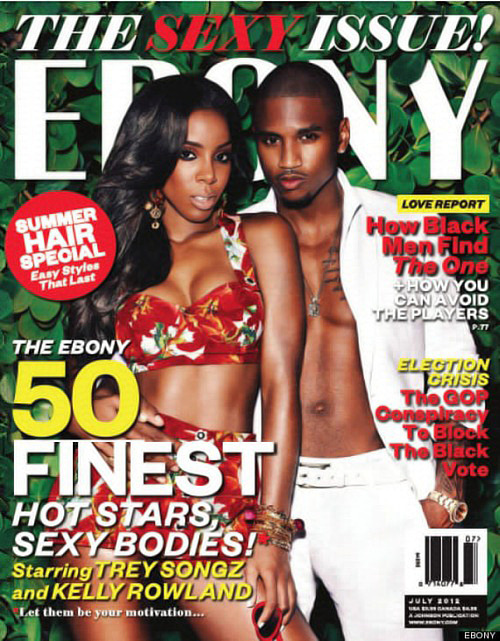 Trey Songz & Kelly Rowland Heats Up Ebony Magazine's Sexy Issue