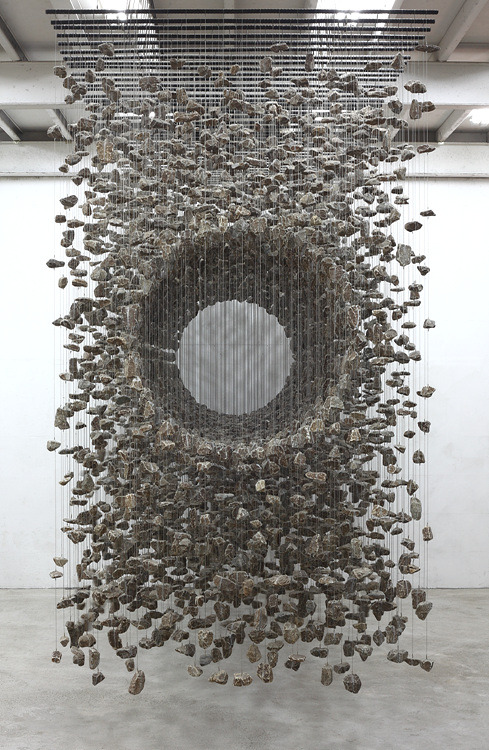 asaya:  rock installation by Jaehyo Lee  via