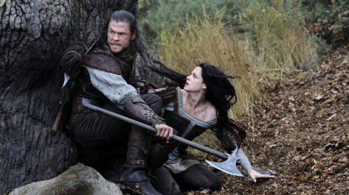"David Edelstein says ""Snow White and the Huntsman is not your father's Snow White, and more to the point not your Uncle Walt's. It's definitively anti-Disney, bleak and brutal, rife with starving peasants, the tone close to Game of Thrones, with a stepmother queen played by Charlize Theron who literally sucks the youth out of female prisoners in an attempt to keep wrinkles at bay.""  (via Movie Review - 'Snow White and the Huntsman' - As Bleak As It Is Grimm : NPR)"
