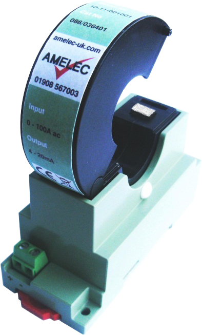 Our ASC-CT is a split-core current transformer that provides easy installation. It allows for non-intrusive monitoring and is CE compliant. Perfect for use in motor / heating element current monitoring & AC current signal conditioning. Output example:  Current = 2000:1 (0-50A = 0-25mA) Voltage = Any range up to 25Vac (0-50A = 0-1Vac)