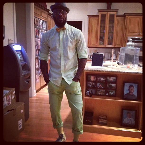 Nets guard DeShawn Stevenson has an ATM in his kitchen. Even better, he apparently charges his friends a $4.50 service fee to use it. Photo via Instagram