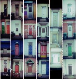 A collection of 24 very different, but plain front doors.  Philip Curwen from Canada was the proud winner of canister #002 'The Front Door'. He let temptation and excitement get the better of him and chose to develop the film and have a look at the mystery contained within. Once developed Philip was able to scan in the negatives using his own home scanner. He uploaded this picture so we could see the results. Thanks Philip! I'm really glad this brought back a bit of the excitement lost with digital photography. The current Exposed & Undeveloped canister on offer is 'Breasts, giver of life'. Please a bid on it here: http://www.ebay.co.uk/itm/280889622879