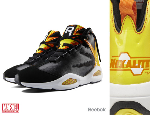 herochan:  Reebok X Marvel Limited Edition Sneakers! Zombiebacons: Here is the first line of the Reebok X Marvel collaboration that I designed. I've been working with kids footwear to create Spider-Man licensed shoes for a few years now, and finally, we can get some adult sizes for us grown-up nerds (and nerd-ettes)! The sneakers drop this summer at specific retailers, read more info here, here, here and here. The first lineup is Captain America, Red Skull, Spider-Man, Venom, Wolverine, Sabretooth, Deadpool, Chamber, Black Widow and Emma Frost.