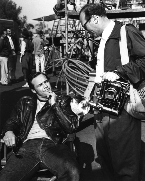"On the set of ""The Wild one"""
