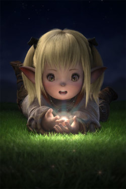 The Lalafell of the MMORPG Final Fantasy XIV I found this picture along time ago and fell in love with it. This has to be my favorite race in Final Fantasy XIV. They are too fricken adorable!