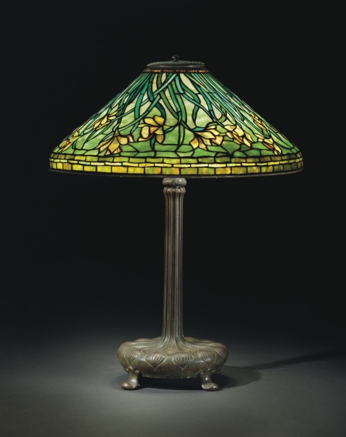 christiesauctions:  Tiffany StudiosA 'Daffodil' Table Lamp, Circa 1910  A San Francisco Iconoclast: Henry Africa's Collection of Magnificent Tiffany Lamps