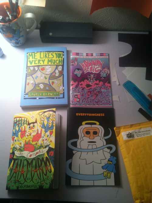 Over the last month or so I have acquired these four comics from Hic & Hoc Publications! I have finally gotten around to reading them all and I can tell you they are awesome books. Highly recommend comics for your eyeballs and brains.  If you love comics head over to their store and pick something up for yourself. You won't be sorry.