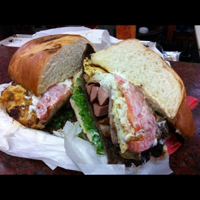 Foodoofus favorite Street Food: That's it Market's coveted Torta (Carnivore's Dream Sandwich) highlighted on Anthony Bourdain's No Reservations