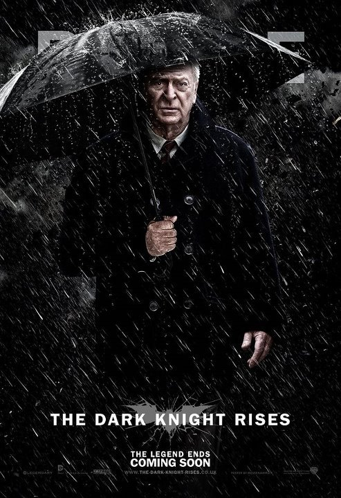 Here's a great fan made poster for The Dark Knight Rises. You can't leave out Alfred! Credit: Guilherme Zanettini