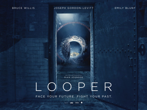 "jglnews:  IGN revealed the UK teaser poster for Looper. The numbers on the door lead to a viral site: 07153902935.com titled ""Who is the rainmaker?"" (Those of you who have read the script know what that means) There is a hidden still on the site, which hopefully is the first step of a full viral."