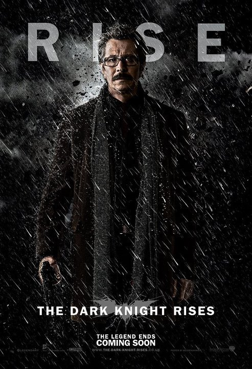 Here's a great fan made poster for The Dark Knight Rises. This makes Commissioner Gordon look bad ass! Credit: Guilherme Zanettini