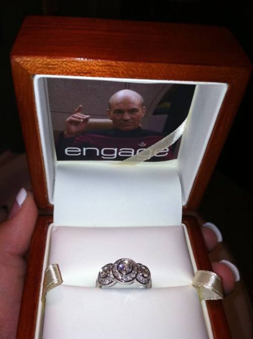 collegehumor:  Star Trek Engagement Ring Marriage: the final frontier.    Ugh. At least it's not in Klingon.