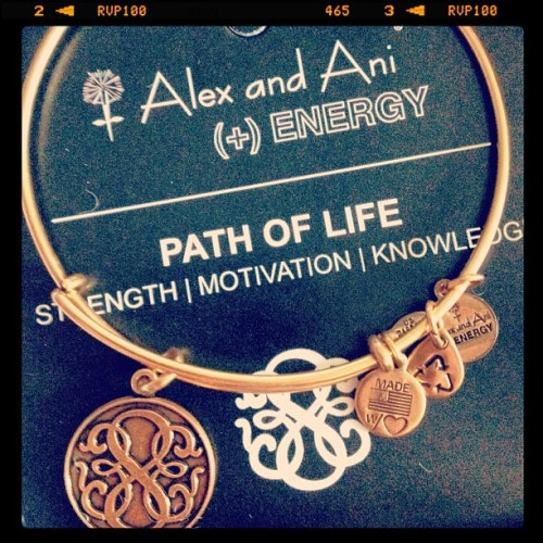 Present to myself #jewlery #alexandani #iphone  #bracelet #instadaily #igers (Taken with instagram)