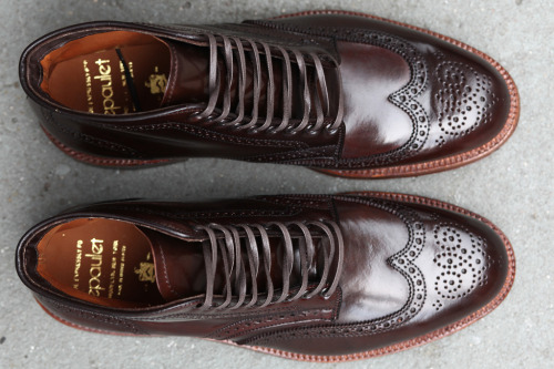 epauletshop:  Alden for Epaulet Brixton Boot in Cigar Shell Cordovan