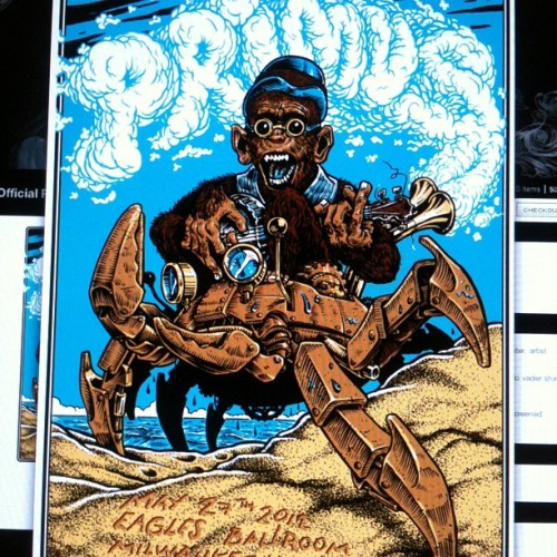 Buy one on my #Bigcartel store. 45 available..#Primus #Poster  Go to: johnnycrap.bigcartel.com (Taken with instagram)