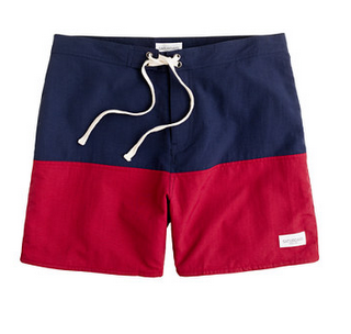 I would really like to see Garrett in these j crew swim trunks