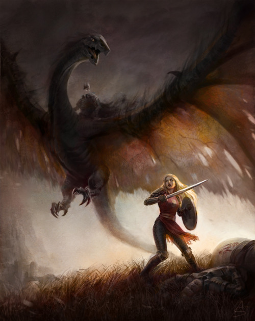 Eowyn and the Nazgul by *depingo