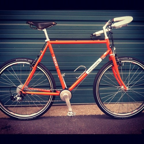 Custom XOXO built by Rosebud Bicycle Builds in Seattle. These boys got skills.  (Taken with instagram)