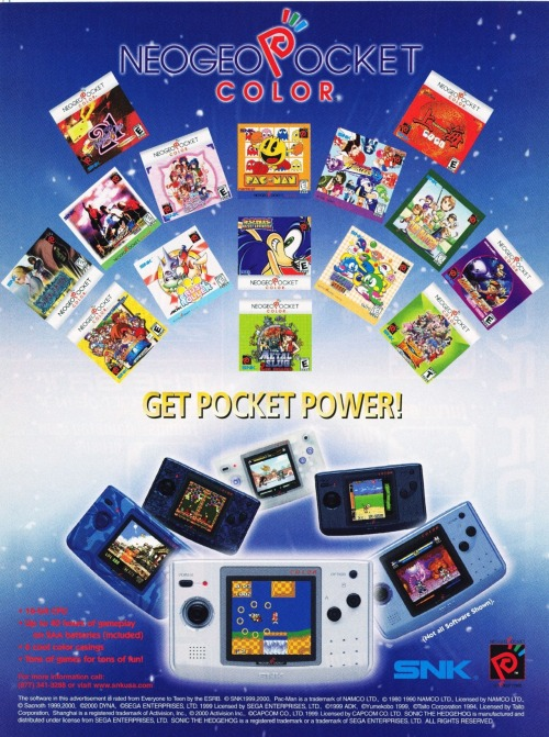 Neo Geo Pocket Color ad.