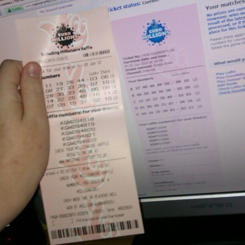 best bloody win now #nationallottery #euromillions (Taken with instagram)