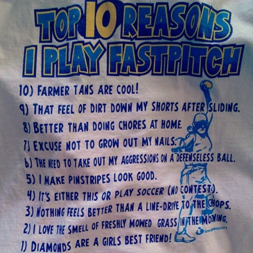 meganscaff:  Pretty much. #fastpitch #imissit #softball (Taken with instagram)