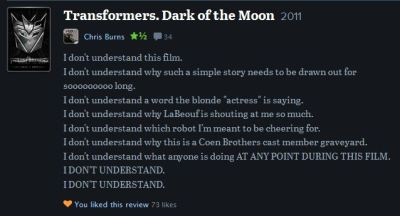 A comment on letterboxd.com that made me laaaaugh.