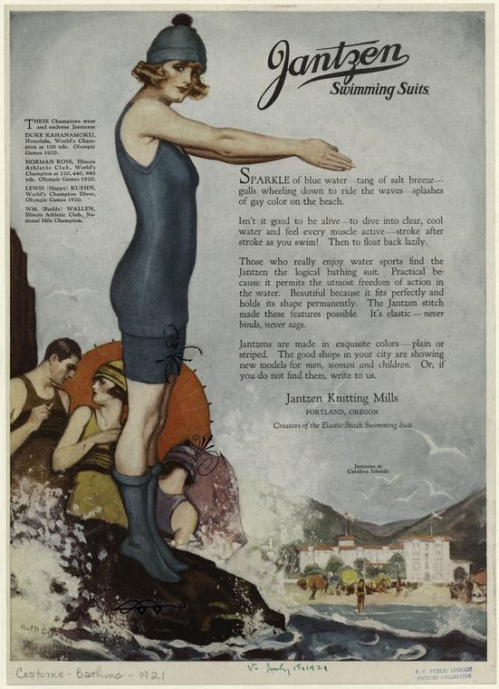 Jantzen Swimming Suits 1921