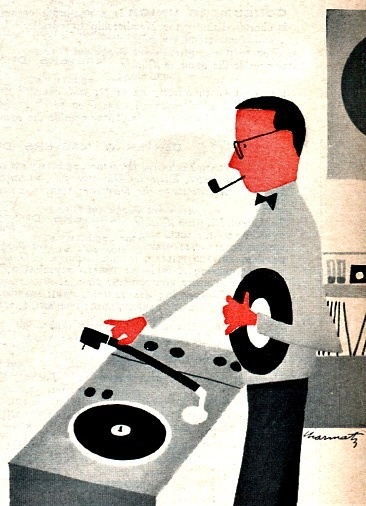 1950sunlimited:  Record Love! 1959 illustration/consumer reports magazine