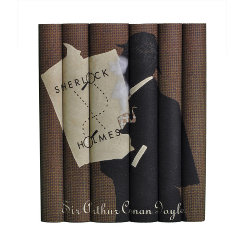 "On Fab.""Set of Sir Arthur Conan Doyle features seven books in custom jackets that make up one Sherlock Holmes design."""