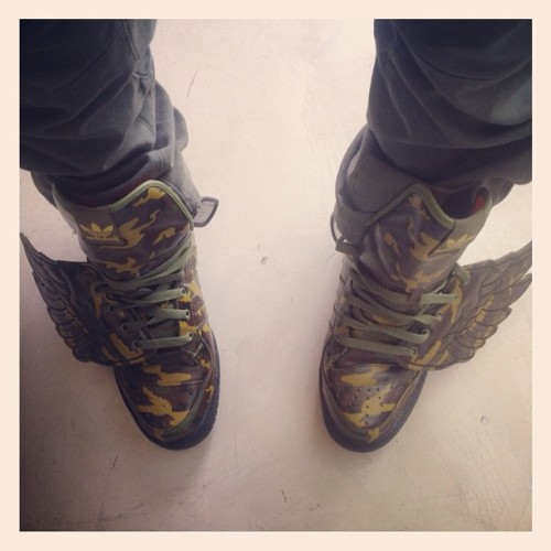 I can fly… #adidas x #jeremyscott thx @emilyrosetv (Taken with instagram)