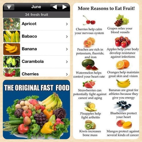 You want fast food? Eat more fruit. It's just as simple that. Your body will thank you for it . I've also included the Fresh Fruit app which lets you know what's in season. Eat you fruit and veggies! #vegansofig http://instagr.am/p/LU9x3iGif5/