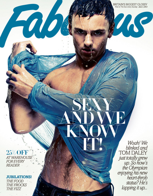 boygaga:  Tom Daley for Fabulous Magazine June 2012