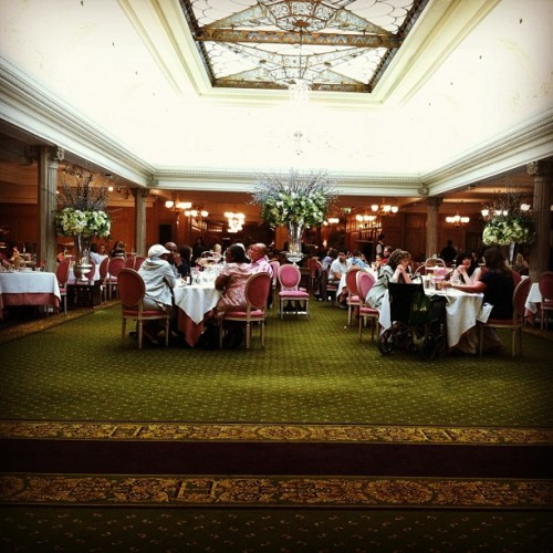 Afternoon tea at Harrods.  (Taken with instagram)