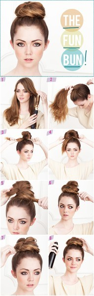 instructions on how to do a good bun: It's the fun bun. Give it ago.