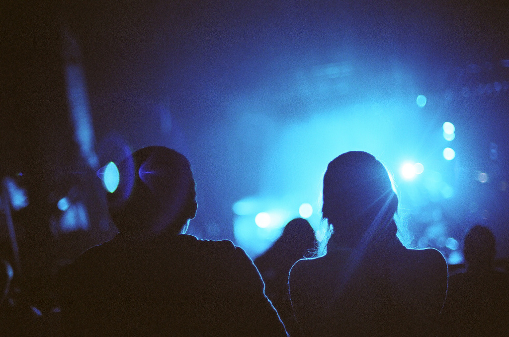Share  Nikon F3 | Portra 400  Beacon Theater, Manhattan, NY  At the Death Cab for Cutie concert. Can't believe how well Portra 400 did in low light.